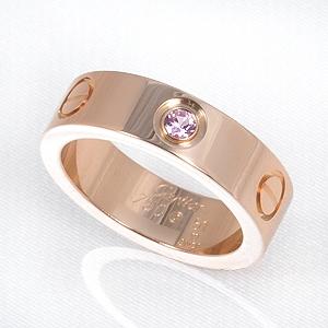 Nhẫn Cartier love ring 1 viên diamond K18PG