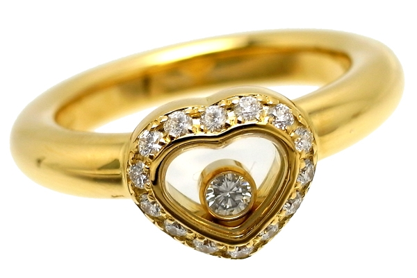 Nhẫn Chopard happy diamond 1P diamond size 7