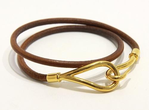 Vòng tay Hermes jumbo da màu vàng