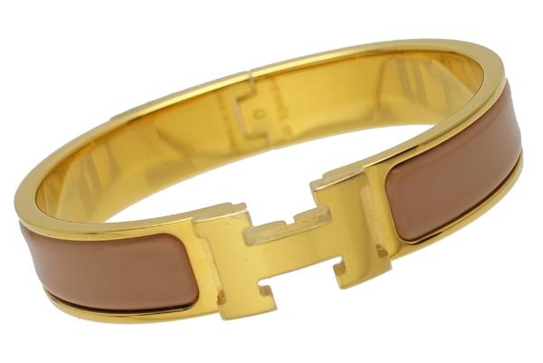 S Vòng tay Hermes màu nâu - vàng