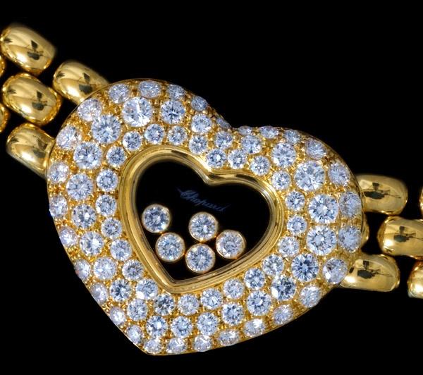 Hàng hiếm Vòng cổ Chopard happy diamond