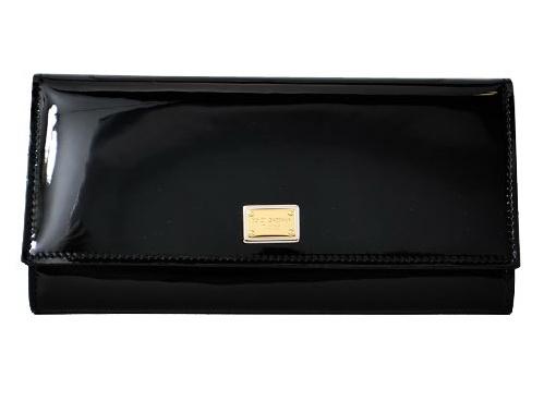 NEW Ví Dolce &Gabbana đen da bóng
