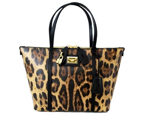 NEW Túi Dolce&Gabbana da báo kéo khóa BB4658
