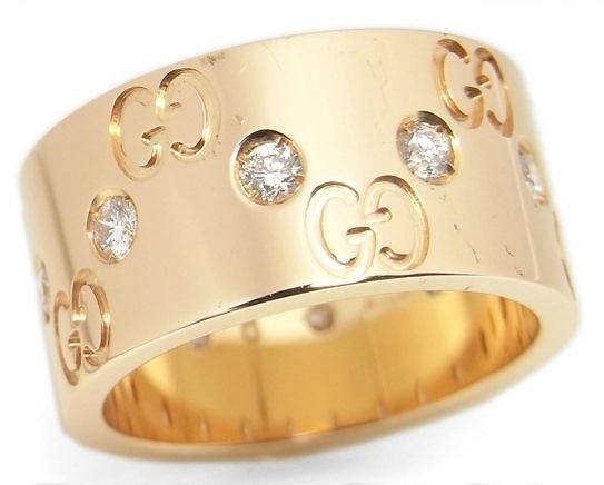Nhẫn Gucci kim cương size 8