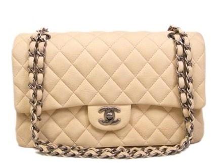 Túi Chanel classic kem