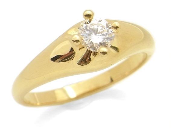 Nhẫn kim cương bvlgari K18YG 0.31ct