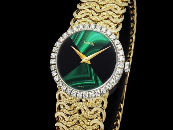 Đồng hồ Piaget nữ mặt xanh
