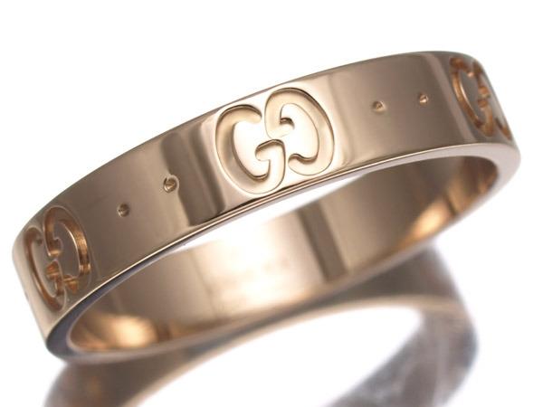 Nhẫn Gucci GG vàng hồng