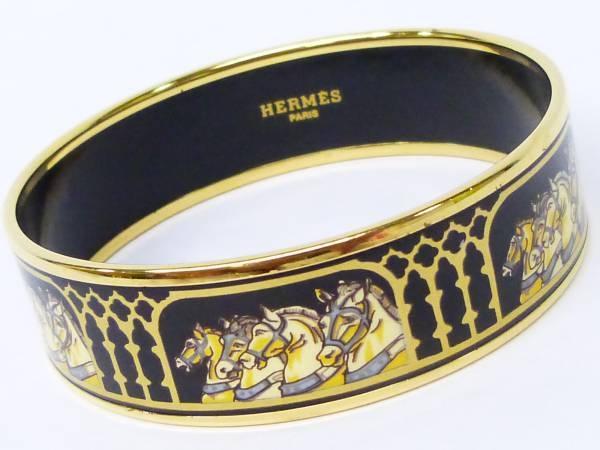 Vòng tay Hermes của nữ màu đen vàng