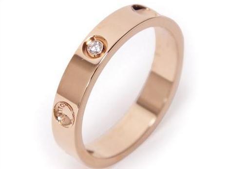 Nhẫn kim cương Louis Vuitton K18PG 0.02ct hồng vàng