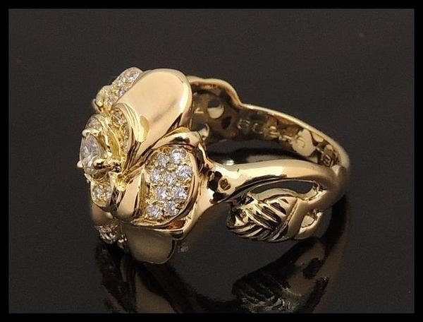 Nhẫn kim cương Chanel K18YG size 11