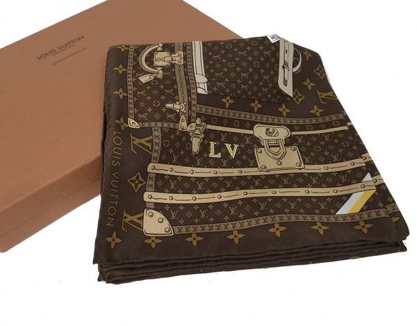 Khăn lụa Louis Vuitton trunk