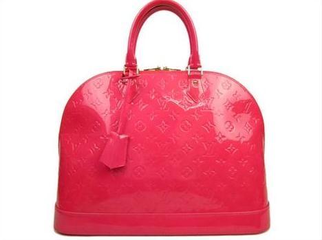 Túi xách LV Vernis Alma MM màu hồng