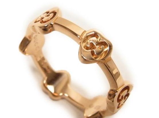 Nhẫn Gucci trái tim vàng hồng