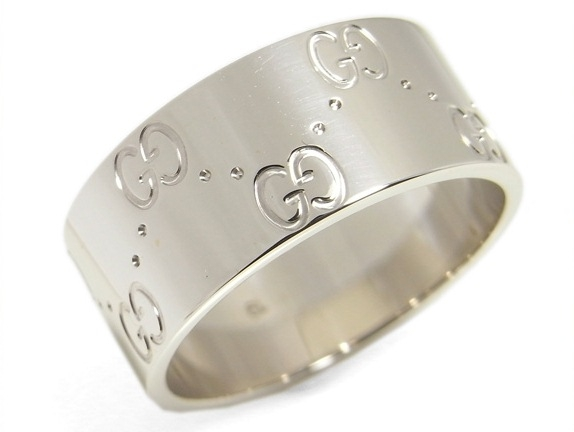 SA Nhẫn Gucci K18WG size 18 màu trắng bạc