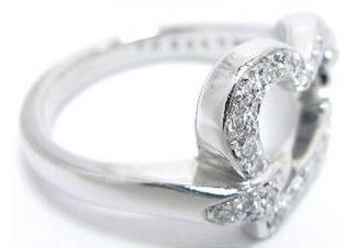 SA Nhẫn Piaget kim cương K18WG size 50