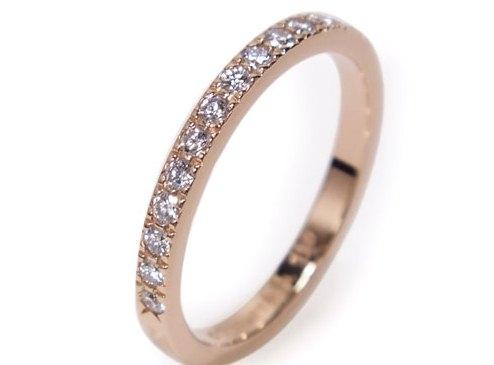 Nhẫn Tiffany&Co kim cương K18PG vàng hồng 8.5