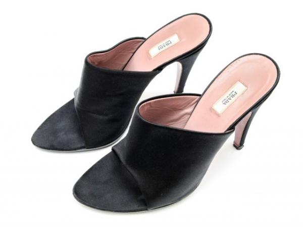 Ms3031 Sandal Prada size 37 satin đen SUMMER SALE