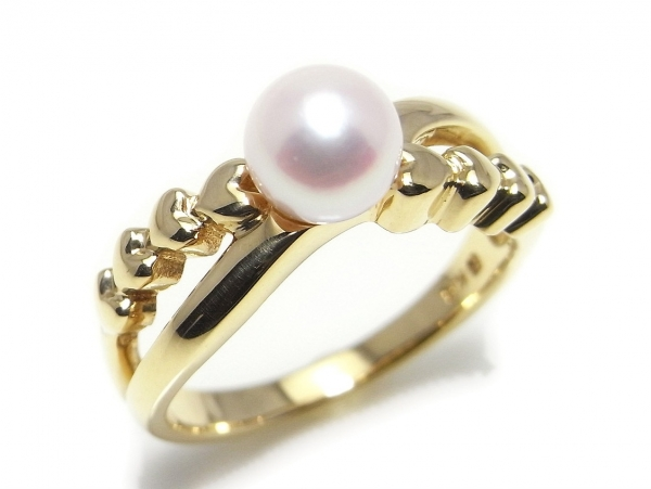 Nhẫn Mikimoto ngọc trai K18YG