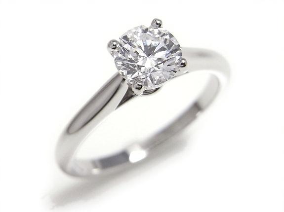 Nhẫn Cartier kim cương 0.60ct Pt950 size 46