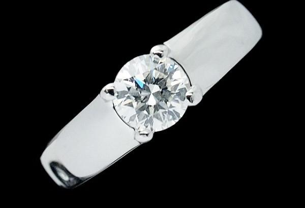 Nhẫn Blvgari kim cương Pt950 0.51ct size 8,5