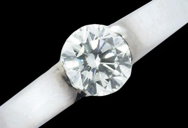 Nhẫn cartier kim cương K18WG 0.31ct size 49
