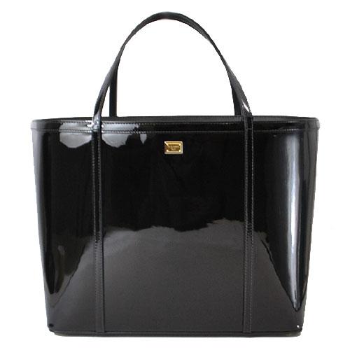 Túi xách Dolce & Gabbana màu đen bóng BB4391