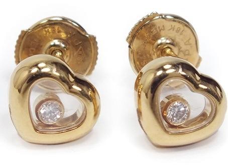 Hoa tai Chopard kim cương K18YG