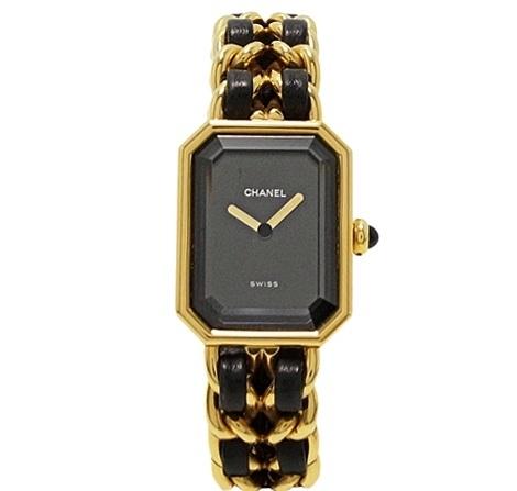 Đồng hồ Chanel dây xích da đen cỡ M