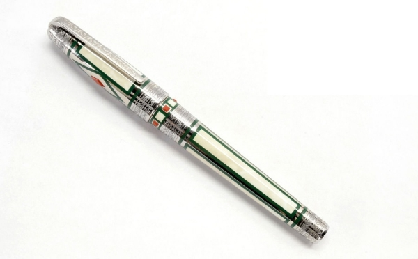 Bút máy Dupont Medici ngòi K18 bạc xanh