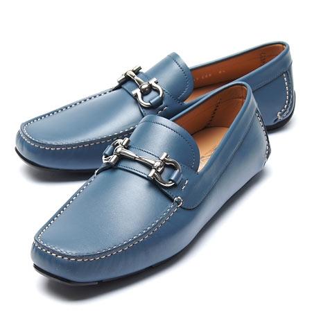 NEW Giày Ferragamo nam parigi xanh size 7.5