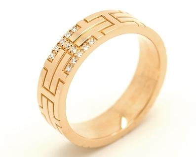 Nhẫn Hermes kim cương size 49 PG