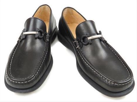 S Giày Ferrragamo nam size 9 EE màu đen