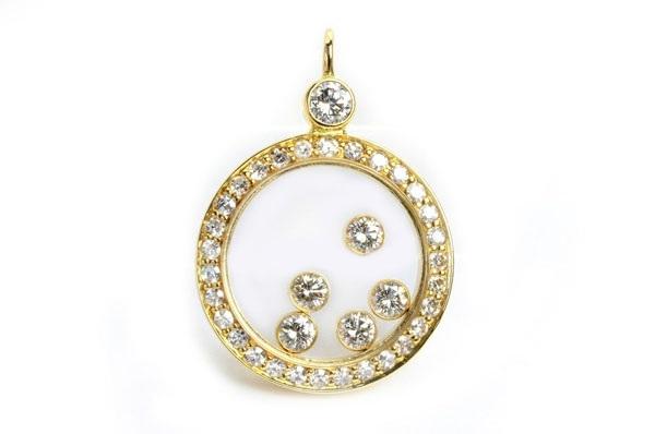 Mặt dây chuyền Chopard 750YG kim cương