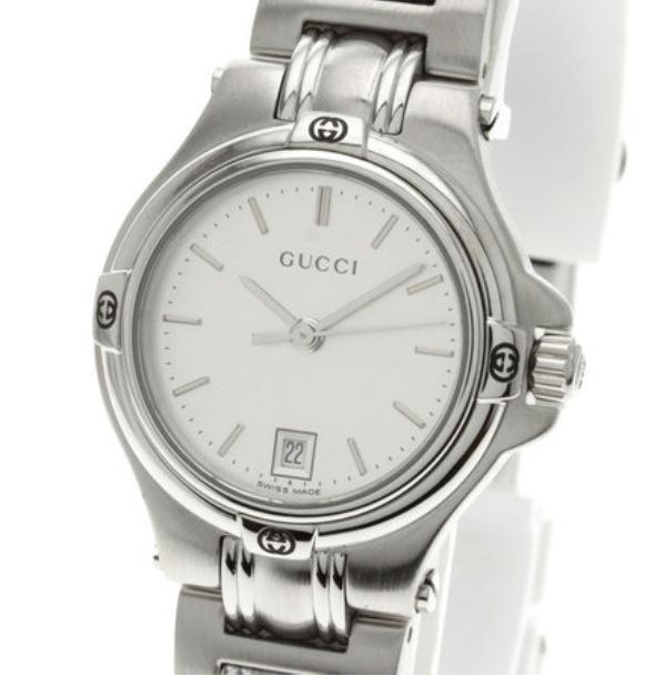 MS9306 Đồng hồ Gucci mặt trắng 9040