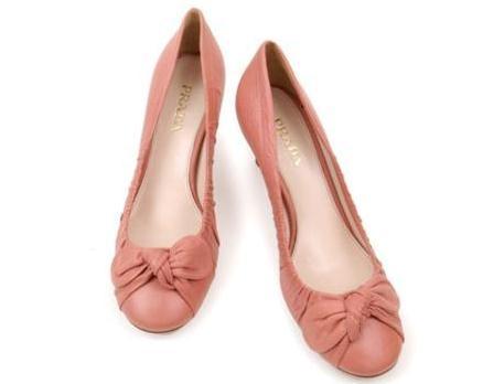 Giày Prada size 37 1/2 màu hồng nhạt