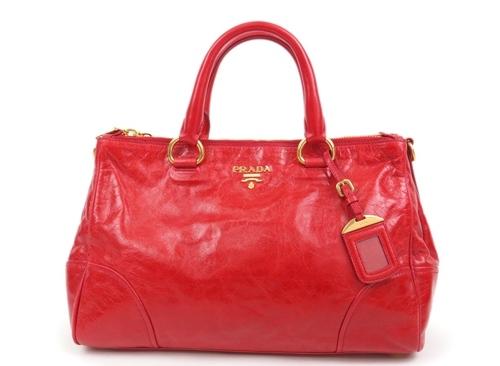 Túi xách Prada màu đỏ BN2324