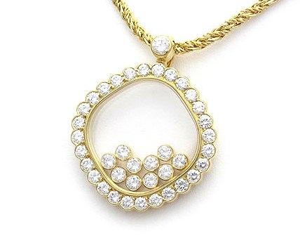 Vòng cổ Chopard vàng K18YG kim cương