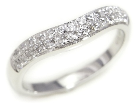Nhẫn Bvlgari corona Pt950 kim cương size 9