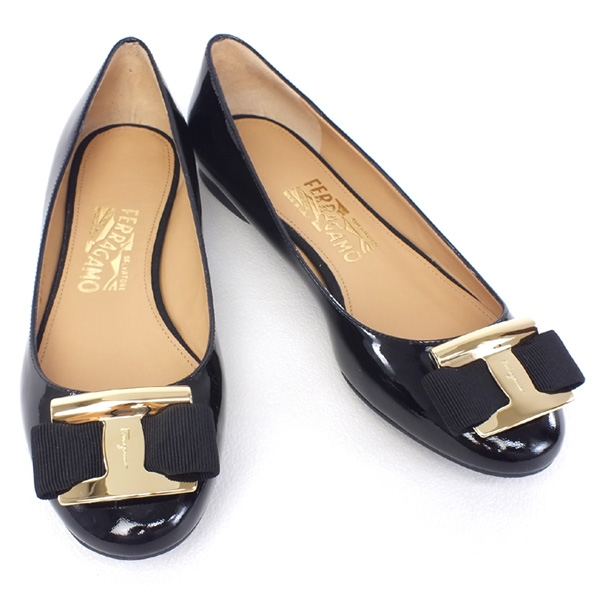 MS4289 Giày Ferragamo Ninna màu đen 7.5C