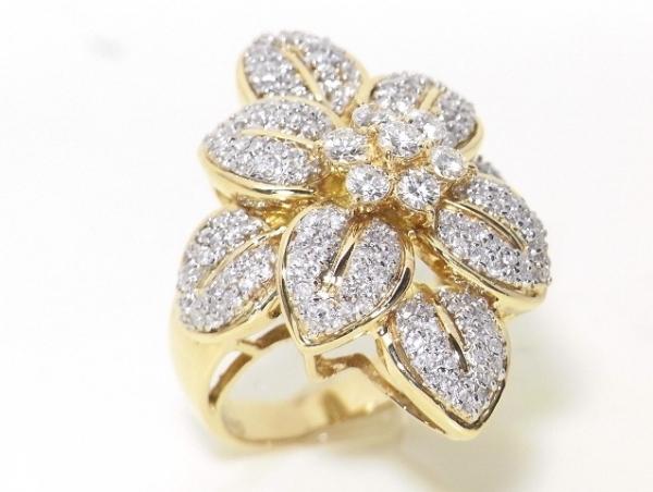 Nhẫn vàng K18YG kim cương 1.21ct size 9