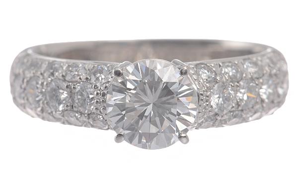 Nhẫn kim cương 1.014ct nước E