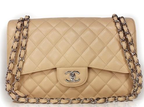 S Túi Chanel jumno màu kem