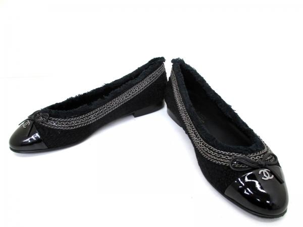 Giày Chanel size 38C màu đen