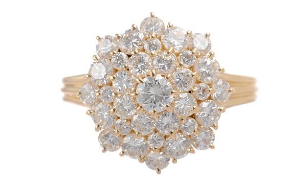 Nhẫn kim cương 2.00ct size 17