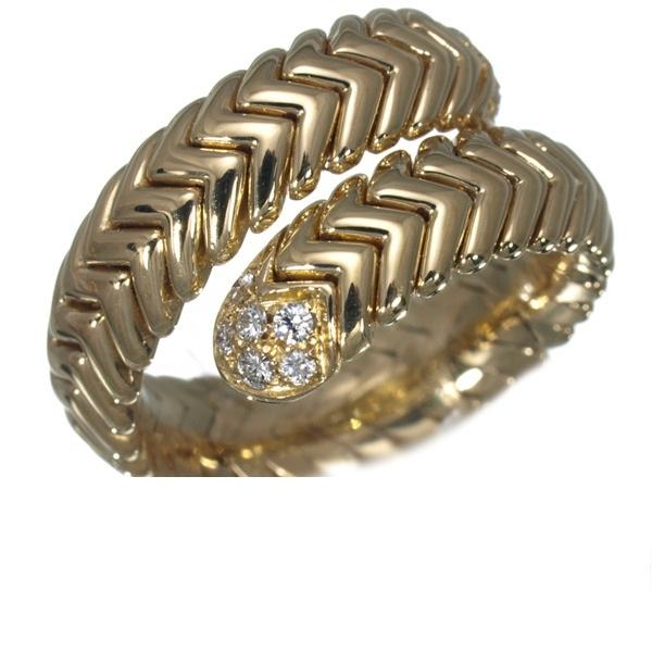 Nhẫn Bvlgari K18YG kim cương size 11