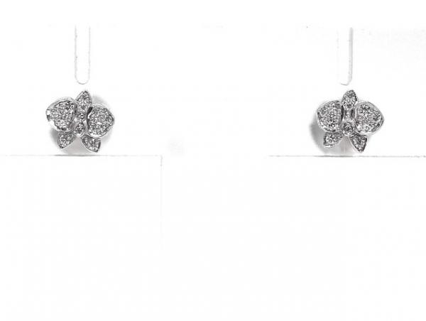 Bông tai Cartier cánh bướm K18WG kim cương