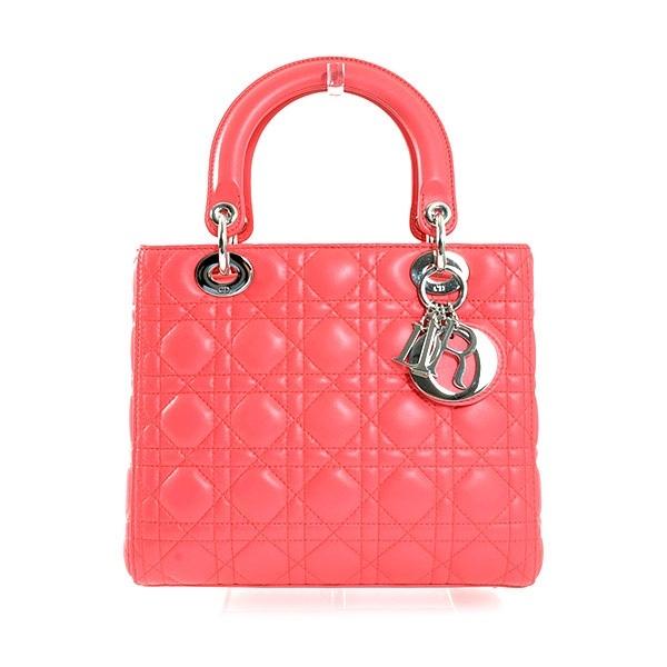 SA Túi xách Christian Dior màu đỏ hồng