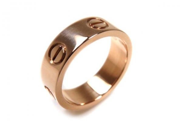 Nhẫn Cartier vàng K18PG size 48