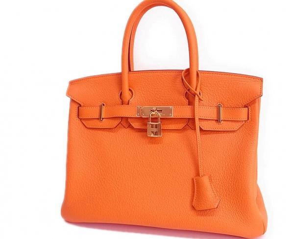Túi hermes birkin 30 màu cam